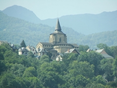 Eglise Saint-Savin - Abbaye de Saint-Savin, commune de Saint-Savin dans les Hautes-Pyrénées (France)
