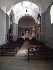 Eglise Saint-Savin - Nef de l'abbatiale de Saint-Savin (Saint-Savin, Hautes-Pyrénées, France)