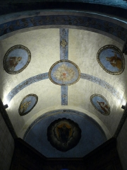 Eglise Saint-Savin - Plafond d'une absidiole de l'église abbatiale de Saint-Savin, Hautes-Pyrénées, France.