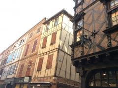 Maison Enjalbert - Français:   Une maison à colombage à Albi.