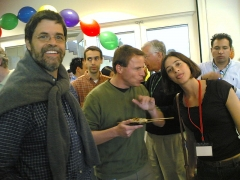 Maison du 14e siècle -  Adam Bosworth, Cedric Beust, Tracey Thomas at the Google Open House