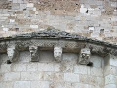 Eglise Saint-Michel - Deutsch: Kirche Saint-Michel in Lescure-d'Albigeois, Apsis mit Skulpturen