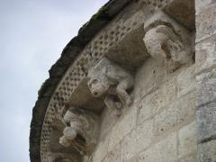 Eglise Saint-Michel - Deutsch: Kirche Saint-Michel in Lescure-d'Albigeois, Skulpturen der Apsis