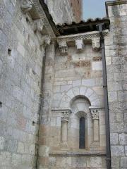 Eglise Saint-Michel - Deutsch: Kirche Saint-Michel in Lescure-d'Albigeois, Skulpturen der Apsis und am nördlichen Querschiff