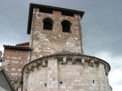 Eglise Saint-Michel - Deutsch: Kirche Saint-Michel in Lescure-d'Albigeois, Blick von Osten aus Apsisiund Turm