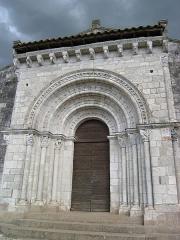 Eglise Saint-Michel - Deutsch: Kirche Saint-Michel in Lescure-d'Albigeois, Portal (Westen)