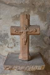 Eglise Saint-Pierre - English: Wayside cross. Shown in front of Saint-Pierre church of Monestiés, Tarn, France.