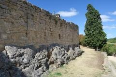 Deuxième porte de l'Irissou et ses deux tours d'enceinte - English: Puycelsi. City walls. Wall of the Irissou gate.