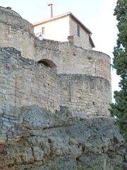 Restes des remparts -  Cette porte de Puycelsi, en partie cachée par les remparts et appelée deuxième porte de l'Irissou, est un monument historique