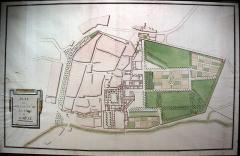 Ancienne église Saint-Martin - Français:   Plan ancien de Sorèze.