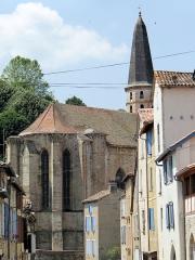 Eglise Saint-Jean-Baptiste - Français:   Caylus - Église Saint-Jean-Baptiste - Le chevet vu de la rue de l\'Olm