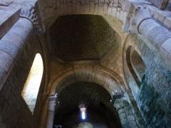 Ancienne chapelle des Templiers - Français:   Nef unique de la chapelle dont on découvre ici la coupole et les baies en plein cintre