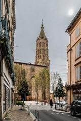 Eglise Saint-Jacques - English: Saint James church from Rue Mary Lafon in Montauban, Tarn-et-Garonne, France