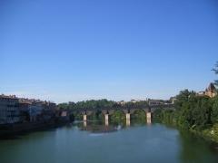 Ancien pont -  The Tarn River at Montauban
