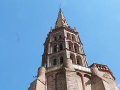 Eglise Notre-Dame de la Visitation - Français:   Clocher de l\'église paroissiale Notre-Dame-de-la-Visitation à Montech (Tarn-et-Garonne)