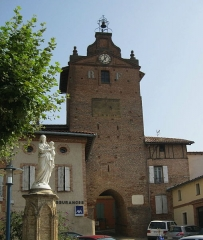Tour de l'Horloge - English: Verdun-sur-Garonne: Clock tower in Tarn-et-Garonne department in France.