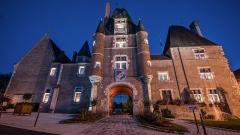 Château - Français:   Château des Stuarts d\'Aubigny sur Nère de nuit