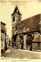 Eglise Notre-Dame - English: Bourges, France. Notre-Dame church. Heliogravure. Publishing house Michel Lévy frères (LL).