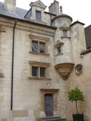 Hôtel Lallemant - Bourges - Hôtel Lallemant - Façade sur cour à côté de la tourelle