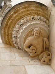 Hôtel Lallemant - Bourges - Hôtel Lallemant - Façade sur cour - Détail de la tourelle