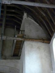 Eglise Saint-Martin - Français:   Passerelle mur clocher nord permettant l\'accès au-dessus de la voûte supprimée de 1885
