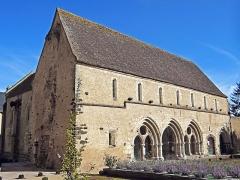 Ancienne abbaye Saint-Martin - Massay - Abbaye Saint-Martin - Bâtiment de la salle capitulaire devant la chapelle Saint-Loup