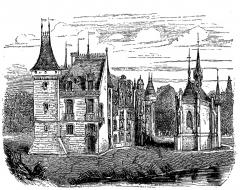 Château -  extrait de La France illustrée, géographie, histoire, administration, statistique, etc., tome I, par V.-A. Malte-Brun.