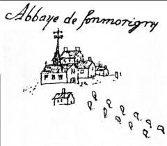 Abbaye Notre-Dame de Fontmorigny - Deutsch: Kloster Fontmorigny 1722
