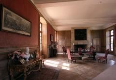 Château de Boucard - Deutsch: Schloss Boucard im französischen Département Cher - großer Saal im rechten Flügel