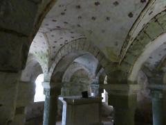 Abbaye Saint-Martin de Plaimpied - Français:   crypte