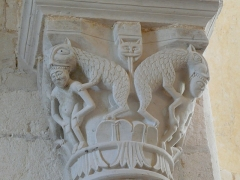 Abbaye Saint-Martin de Plaimpied - Français:   monstres avalants