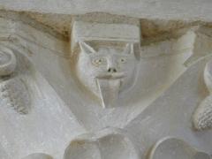 Abbaye Saint-Martin de Plaimpied - Français:   chats tirant la langue