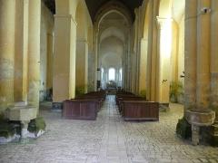 Abbaye Saint-Martin de Plaimpied - Français:   nef principale et choeur