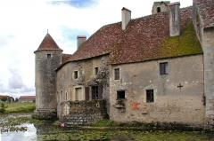 Ruines du château - English: Castle of Sagonne; an ancient tower, north of the enclosure, serves as terrace
