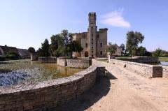 Ruines du château - Deutsch: Burg Sagonne im französischen Département Cher - Ehrenhof