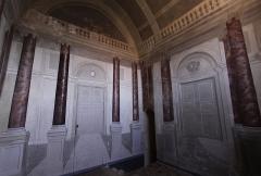 Ruines du château - Deutsch: Burg Sagonne im französischen Département Cher - Kapelle mit Wandmalereien