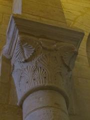 Eglise Saint-Amand - Français:   Détail d\'un chapiteau de la nef