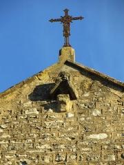 Eglise Saint-Amand - Français:   Détail de la façade de l\'église
