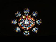 Eglise Saint-Amand - Français:   Rosace portant les initiales S et A pour Saint Amand