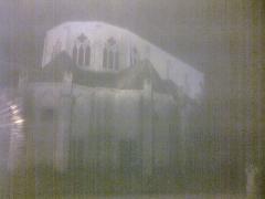 Eglise Saint-Pierre - English: night vue from the  abbatiale church Saint-Guinefort of Saint Satur (cher; France)