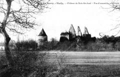 Restes du château de Bois-Sire-Amé - Français:   Le château de Bois-Sire-Amé. Vue des ruines côté Nord, vers 1900.