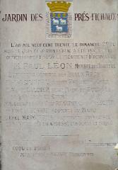 Jardin des Prés Fichaux - Français:   Bourges - Jardin des Prés-Fichaux - Plaque commémorative