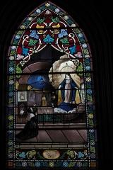 Eglise Notre-Dame - Deutsch: Katholische Pfarrkirche Notre-Dame in Bû im Département Eure-et-Loir (Centre-Val de Loire/Frankreich), Bleiglasfenster