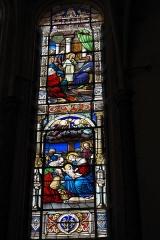 Eglise Notre-Dame - Deutsch: Katholische Pfarrkirche Notre-Dame in Bû im Département Eure-et-Loir (Centre-Val de Loire/Frankreich), Bleiglasfenster, Darstellung: Kindheit Jesu