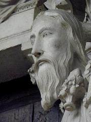 Cathédrale Notre-Dame - Français:   Ébrasement droit du portail central du porche nord de la cathédrale Notre-Dame de Chartres (28). Isaïe.