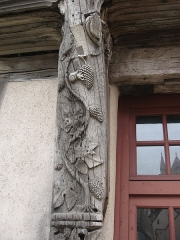 Maison du Saumon - English: Detail of the Salmon house