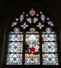 Eglise Saint-Etienne - Français:   La Pénitence (Jésus chez Marthe et Marie), signature \