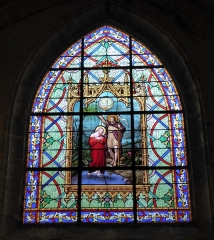 Eglise Saint-Etienne - Français:   Le Baptême du Christ, baie 010, église Saint-Étienne, Janville, Eure-et-Loir (France).