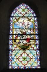 Eglise Saint-Etienne - Français:   Vitrail de la lapidation de Saint-Étienne (baie 5) par Lorin (1895), église Saint-Étienne, Janville, Eure-et-Loir (France).
