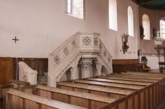 Eglise Saint-Cyr et Sainte-Julitte -  Vue de l'intérieur de l'église Saint-Cyr-et-Sainte-Julitte de Jouy (Eure-et-Loir, France)
